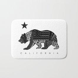 California Black & White Bath Mat