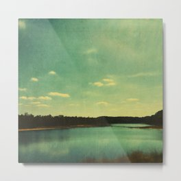 Evening at the Lake Metal Print
