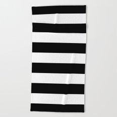 stripe black u0026 white horizontal beach towel