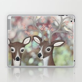 white tailed deer, warbling vireos, & cherry blossoms Laptop & iPad Skin