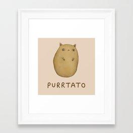 Purrtato Framed Art Print