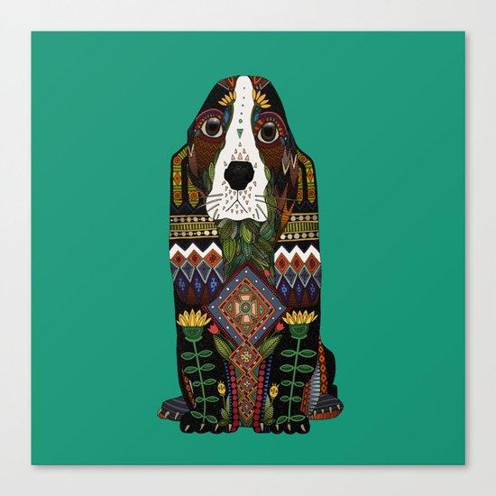 Basset Hound jade Canvas Print