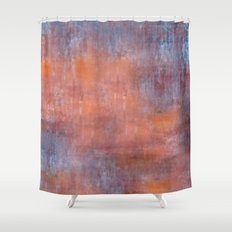 Orange Color Fog Shower Curtain