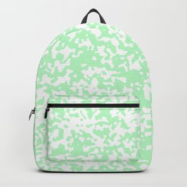 Small Spots - White and Mint Green Backpack