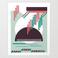 Moustache Mountain Art Print