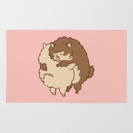 Pomeranian Hugs Rug