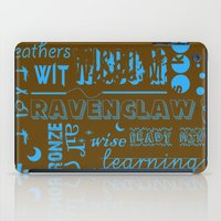 ravenclaw iPad Cases featuring Ravenclaw by husavendaczek