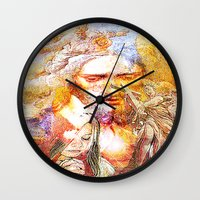 faith Wall Clocks featuring Faith by Joe Ganech