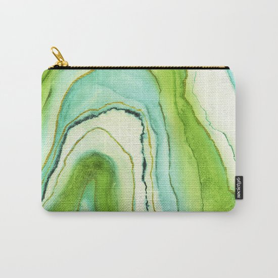 Agate Greenery Carry-All Pouch