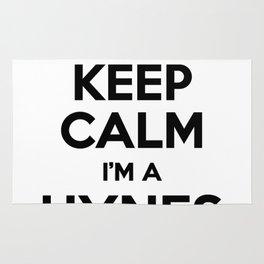 I cant keep calm I am a HYNES Rug