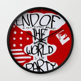 MR ROBOT: END OF THE WORLD PARTY Wall Clock