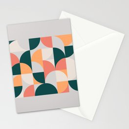 Mid Century Geometric 17 Stationery Cards
