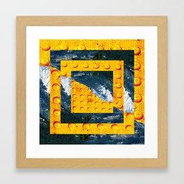churning. Framed Art Print