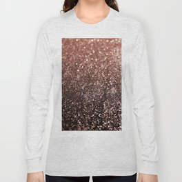 Rose Gold Glitter #1 #sparkling #decor #art #society6 Long Sleeve T-shirt