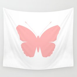 Pink Butterfly Design Wall Tapestry