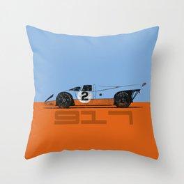 Vintage Le Mans race car livery design - 917 Throw Pillow