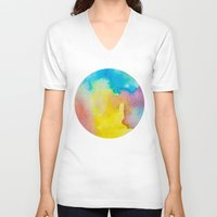 heaven V-neck T-shirts featuring Heaven by elena + stephann