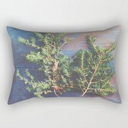 Hemlock on Blue Table Rectangular Pillow