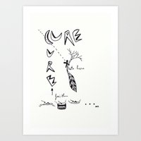 the cure Art Prints featuring cure by Ana Vânia Fonseca