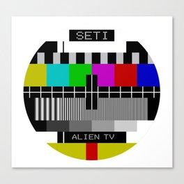 SETI Alien TV Test Pattern Canvas Print