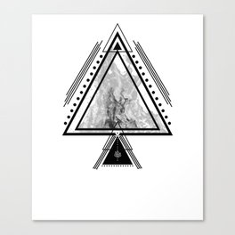 Wiccan Fire Element Symbol Pagan Witchcraft Triangle Canvas Print