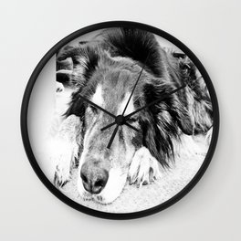 Tired Old Dog Wall Clock
