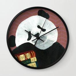 Romantic Panda from Animal Society Wall Clock