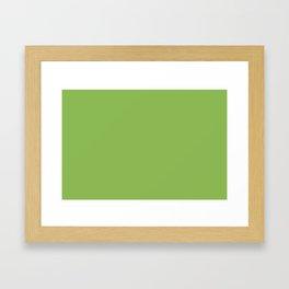 GREENERY PANTONE 15-0343 Green Framed Art Print