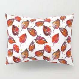 Vintage Watercolor fall linden tree leaves Pillow Sham