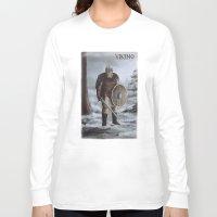 viking Long Sleeve T-shirts featuring Viking by Silvana Massa Art