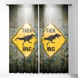 T-Rex Crossing Blackout Curtain
