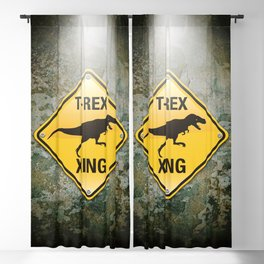 T-Rex Crossing Blackout Curtain