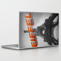 eiffel Laptop & iPad Skins featuring Eiffel by Vin Zzep