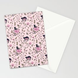 Cats on a flower matrix Stationery Cards