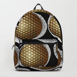 BLACK & WHITE & GOLD Backpack