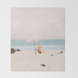 Beach Morning II Throw Blanket