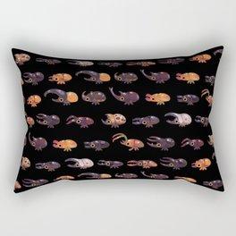 Rhino and Stag - dark Rectangular Pillow