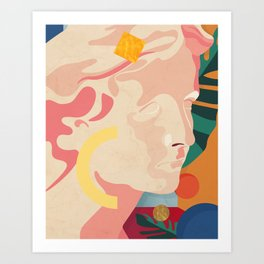 Greek obsession - Golden moments No.1. Art Print