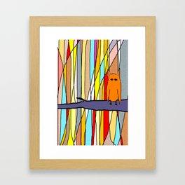 meditation animal Framed Art Print