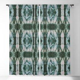 Green Shibori Hedges Blackout Curtain