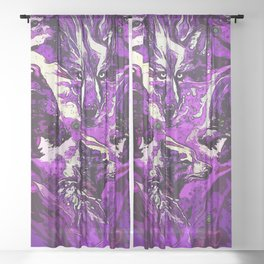 Spirit of The Pack Sheer Curtain