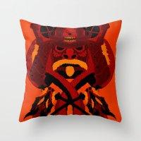 war Throw Pillows featuring WAR by ELECTRICMETHOD.NET