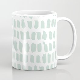 Minty strokes and abstract pastel stripes pattern design Coffee Mug