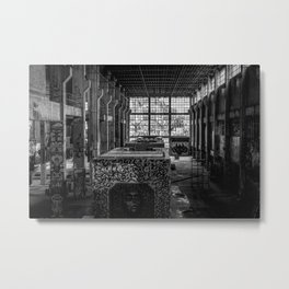 Black and White Abandoned Building Photography Print Grunge Poster Metal Print