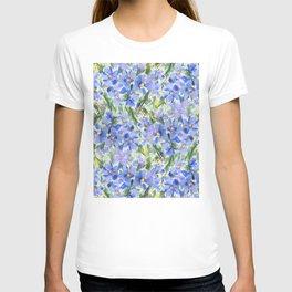 Blue Poppy Field T-shirt