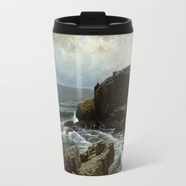Castle Rock, Marblehead, 1878 by Alfred Thompson Bricher Travel Mug