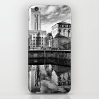 liverpool iPhone & iPod Skins featuring Liverpool Reflection by Caroline Benzies Photography