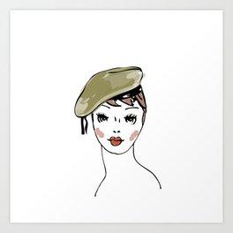 Beret Hat Art Print