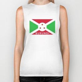 Burundi country flag name text Biker Tank