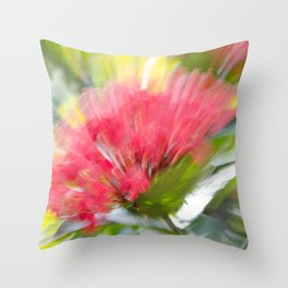 Flower Burst - Electric Magenta Throw Pillow